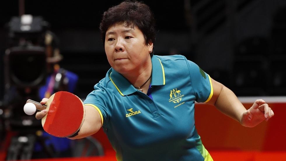 لاعبة كرة الطاولة الأسترالية جيان تشارك في الألعاب الأولمبية للمرة السادسة