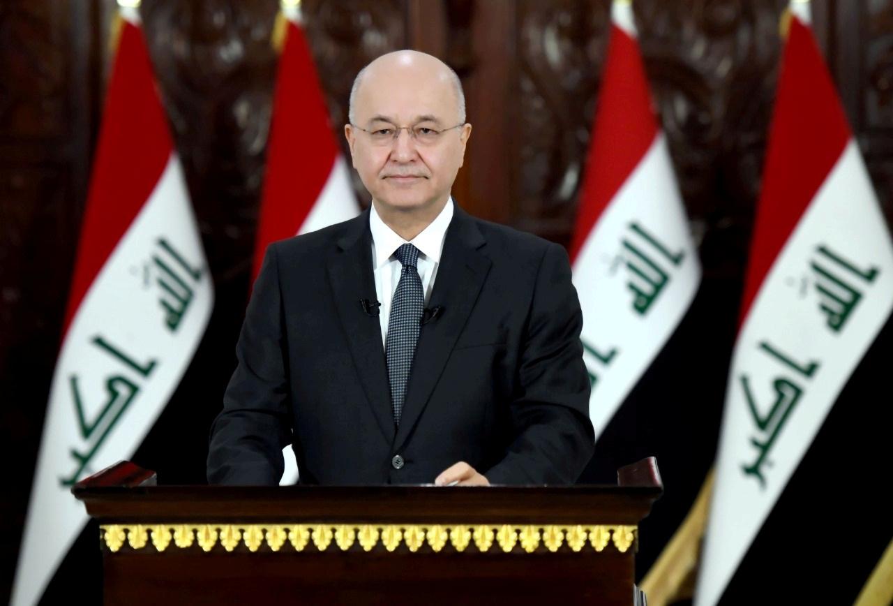 الرئاسة العراقية تدين الهجوم الأمريكي على قوات الحشد الشعبي وتعتبره