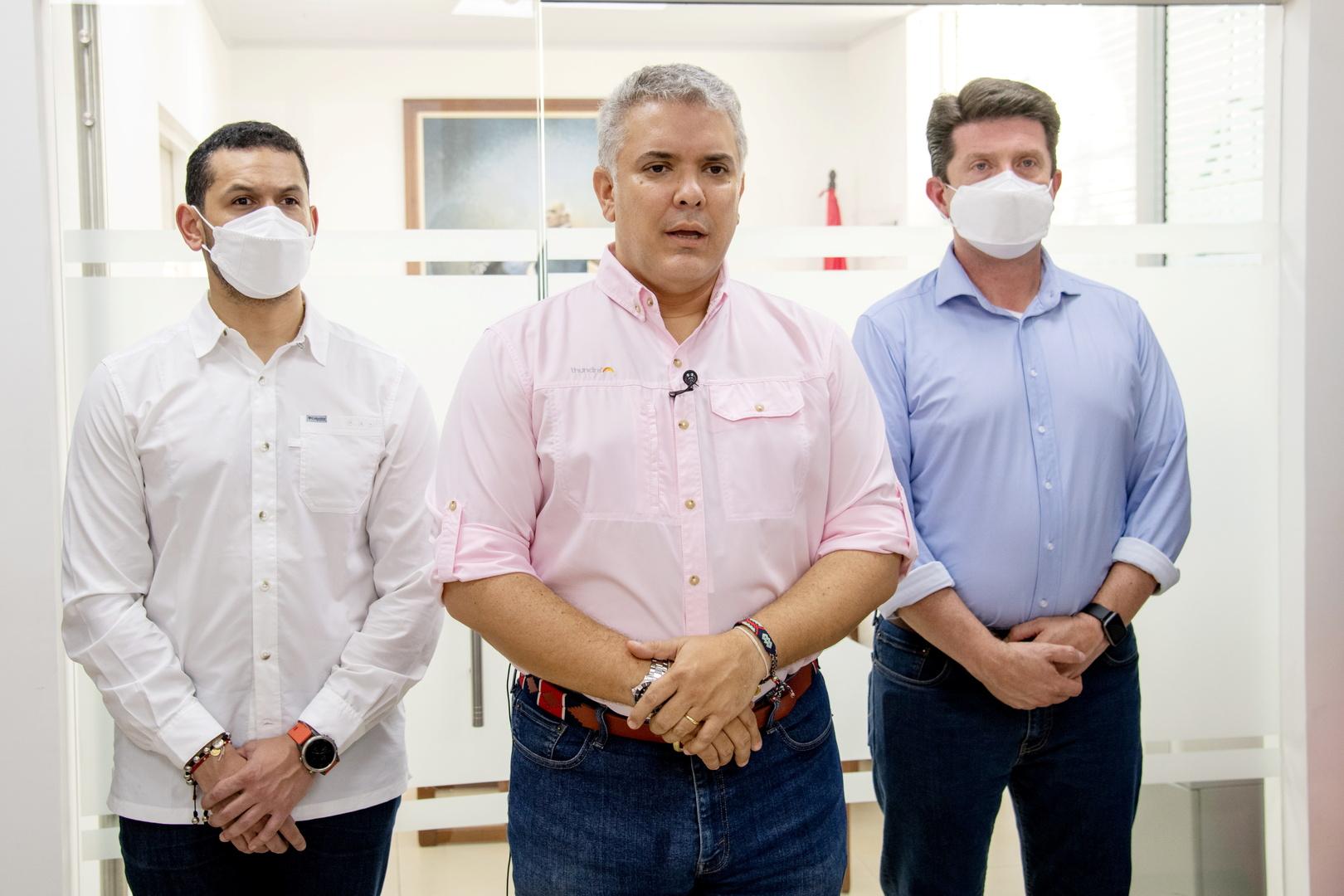 بايدن يؤكد دعمه للرئيس الكولومبي بعد حادث استهداف مروحيته