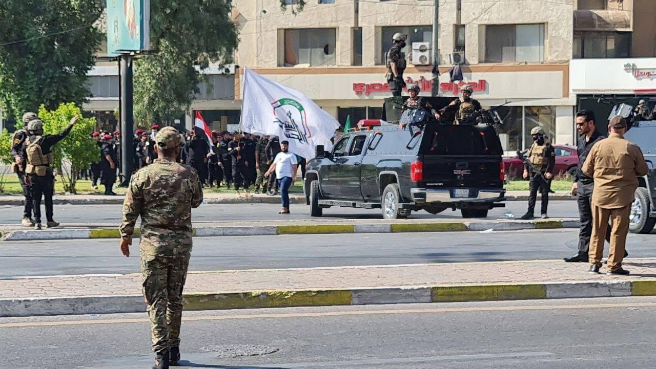 تشييع قتلى الحشد الشعبي الذين قضوا بقصف أمريكي (صور+فيديو)