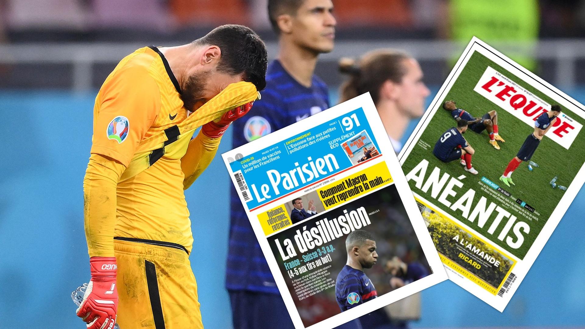 الصحف الفرنسية تكيل صفات الفشل على منتخب