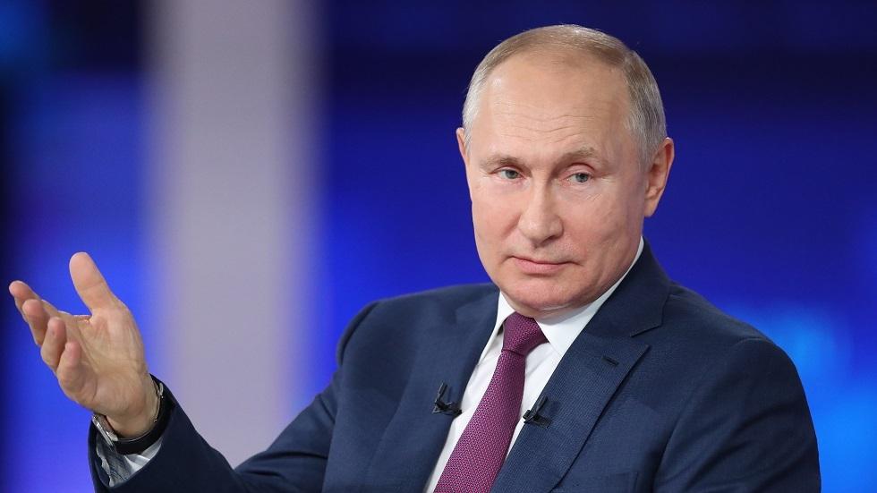 الرئيس الروسي فلاديمير بوتين أثناء حوار اليوم 30.06.2021