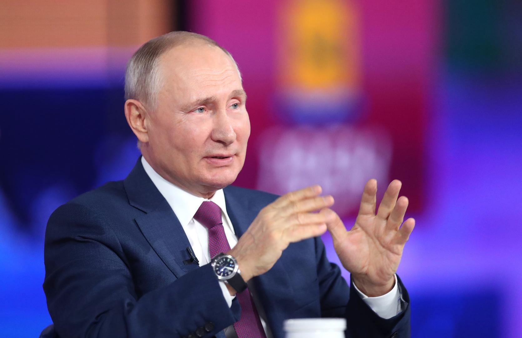 بوتين يضرب مثلا بالصين