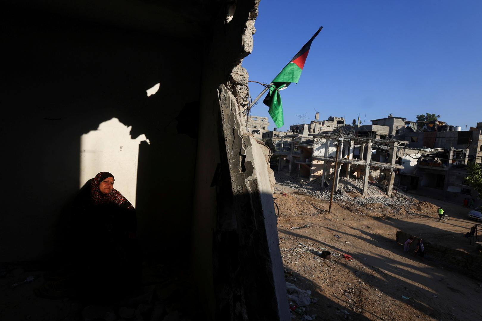 مبان مدمرة بغارات إسرائيلية على قطاع غزة.