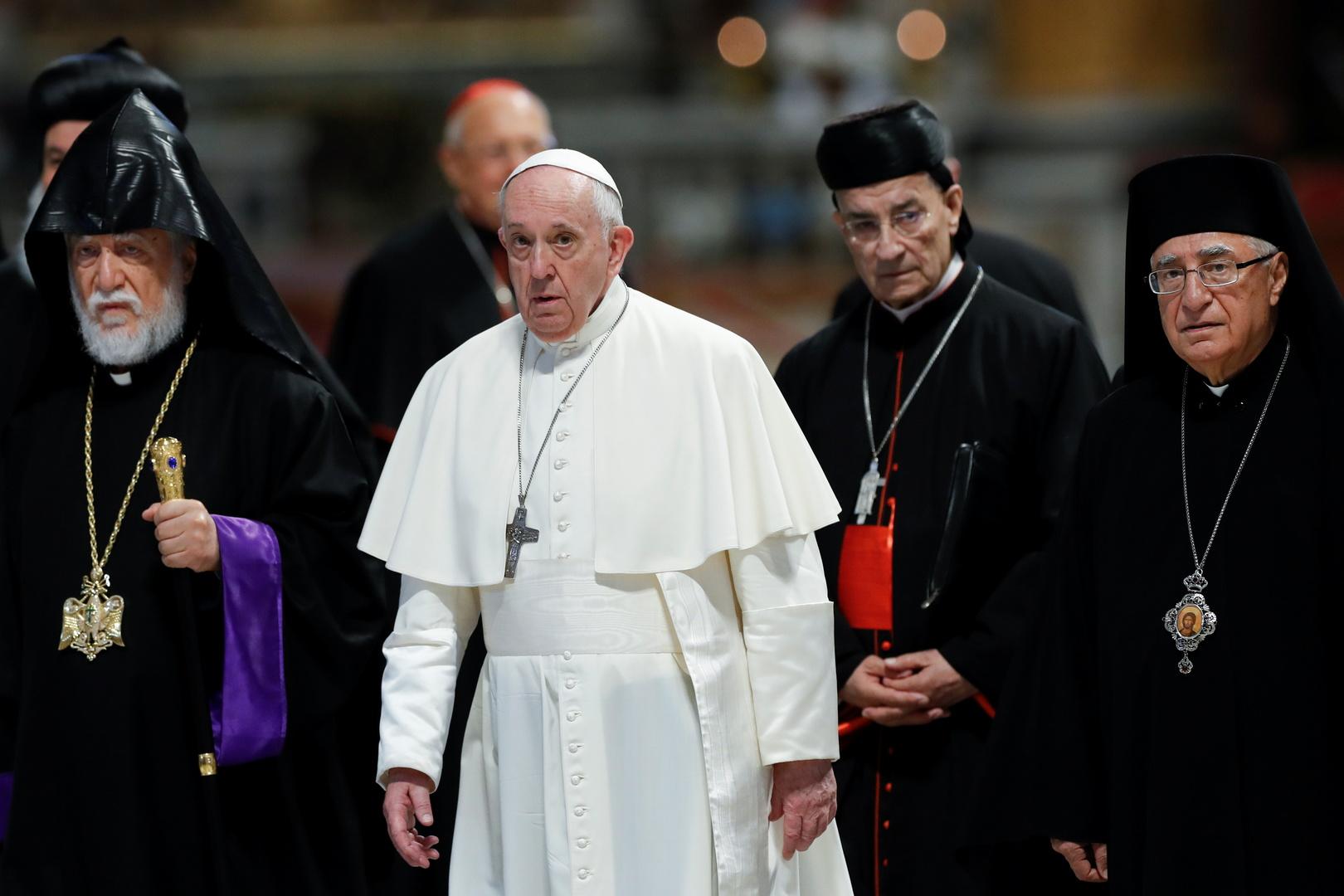 البابا فرنسيس يلتقي قادة كنائس لبنان