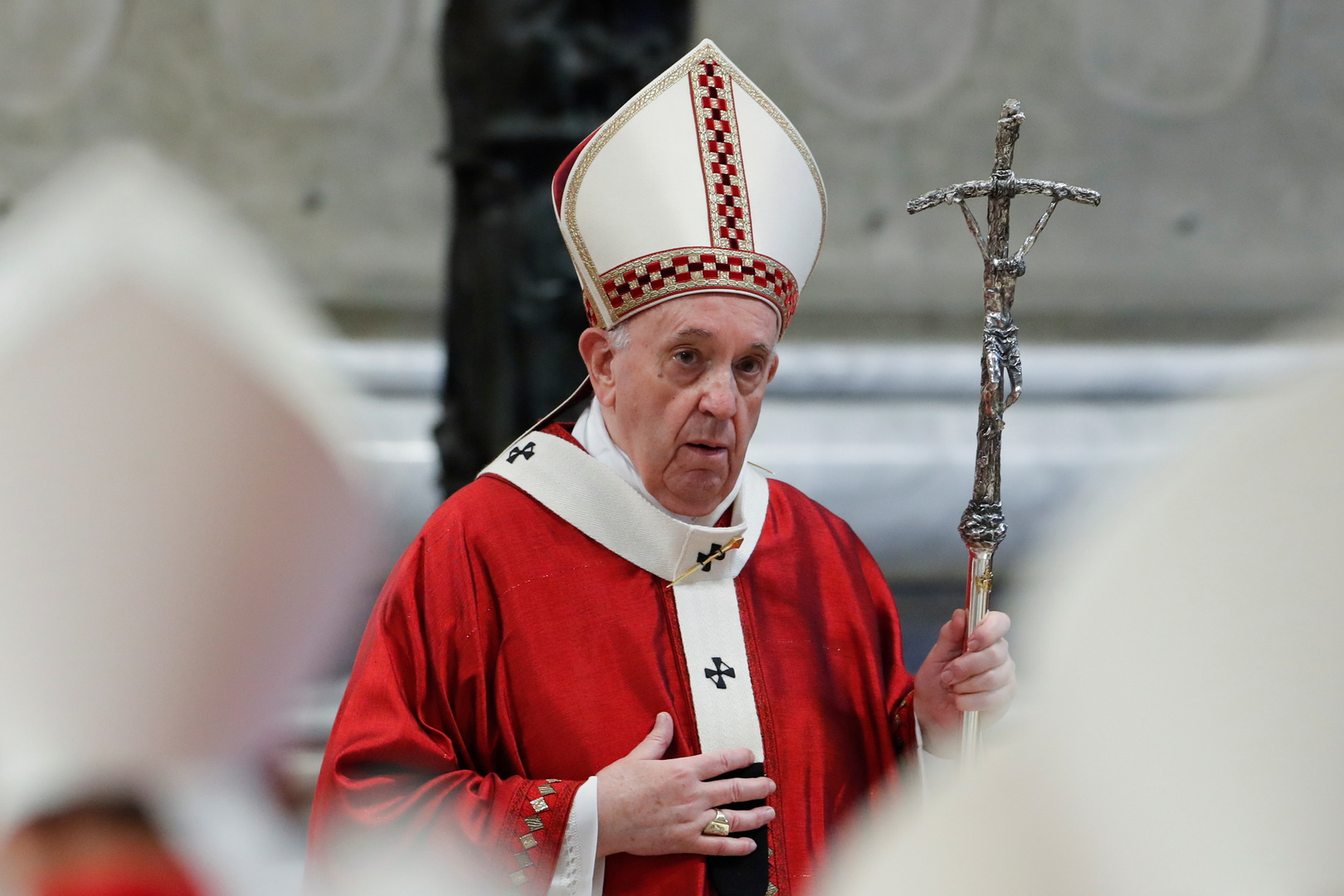 البابا فرنسيس يتبرع للاجئي معسكر ليبا