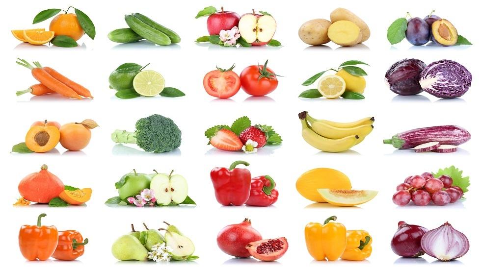 اللون يحدد فائدة الفواكه والخضروات والثمار