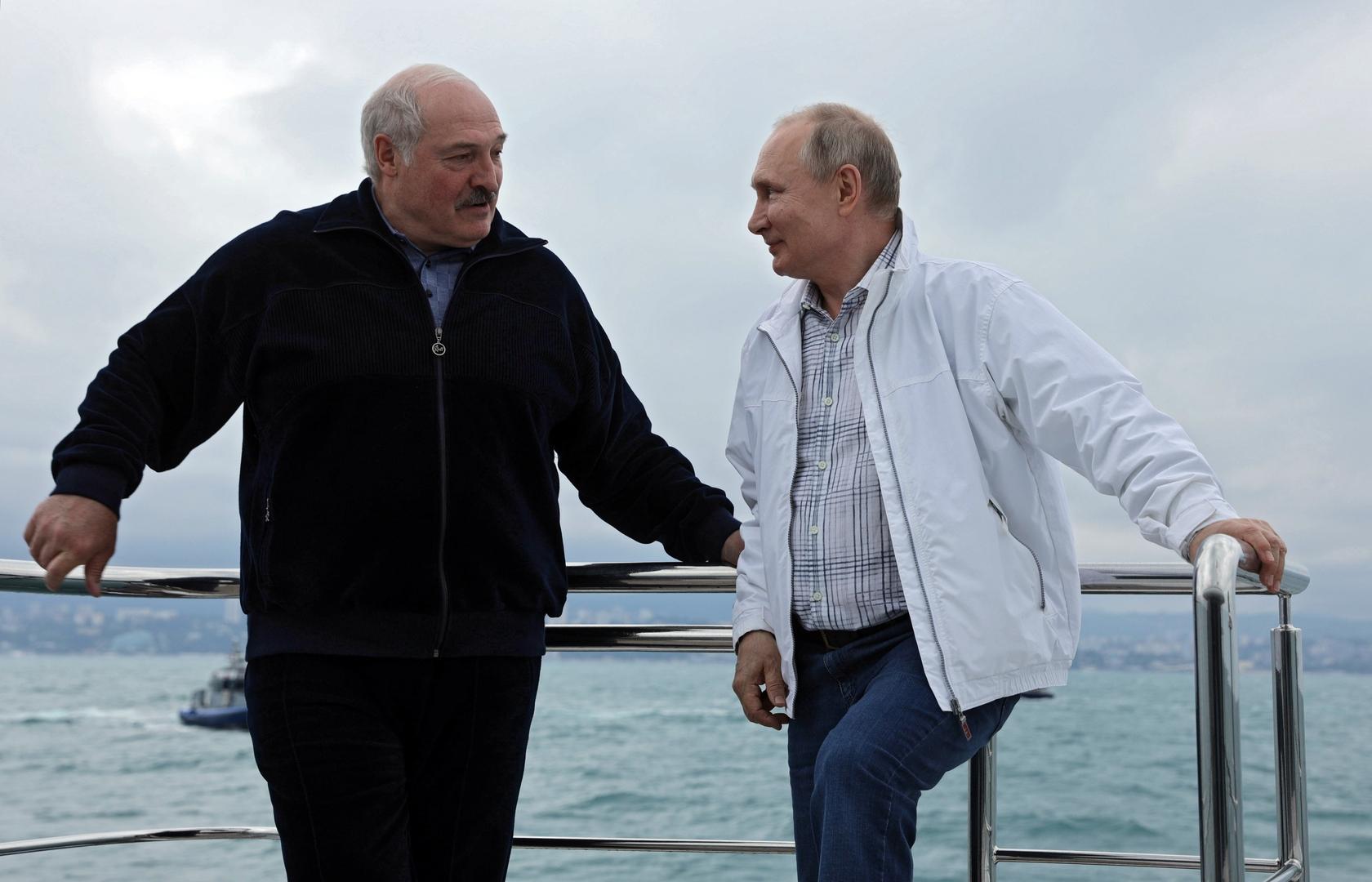 بوتين: سنستمر بدعم بيلاروس أمام الضغوط الغربية