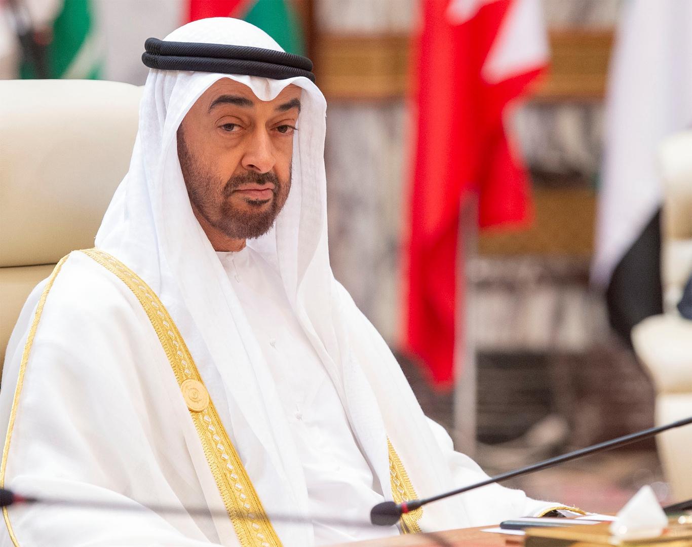 محمد بن زايد يتلقى اتصالا هاتفيا من مستشار الأمن القومي الأمريكي