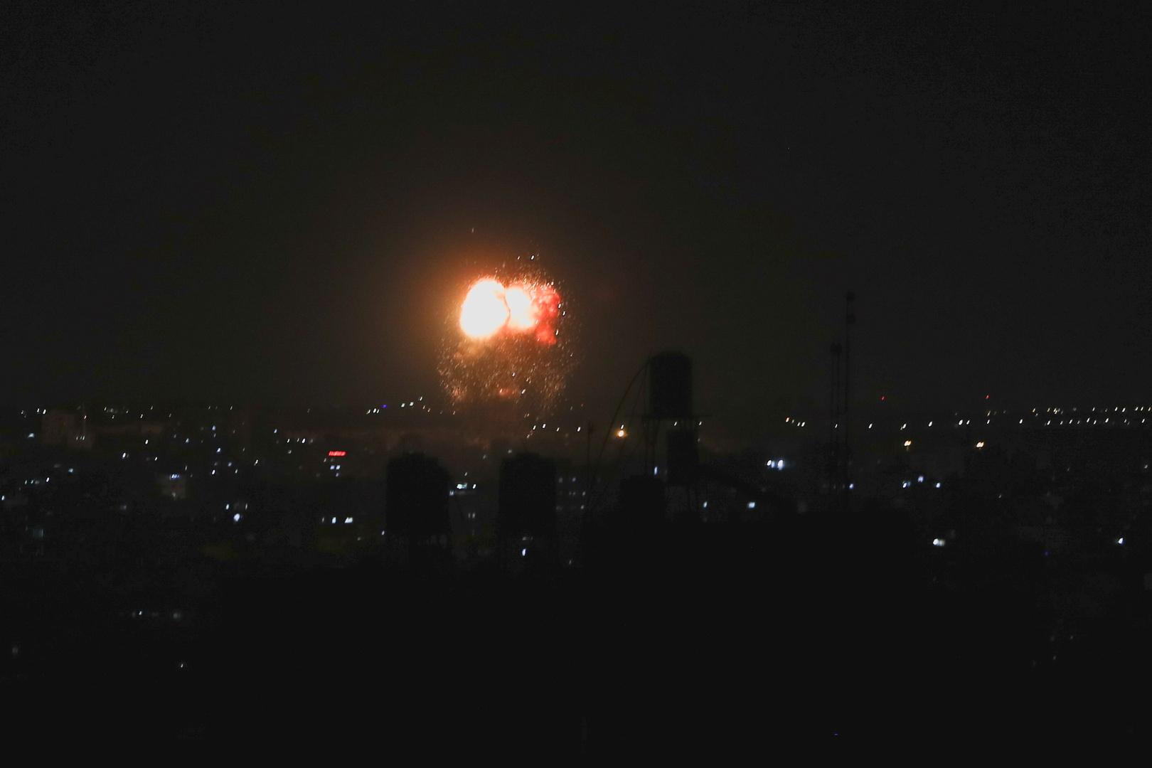 مراسلنا: الطائرات الحربية الإسرائيلية تشن غارات على قطاع غزة