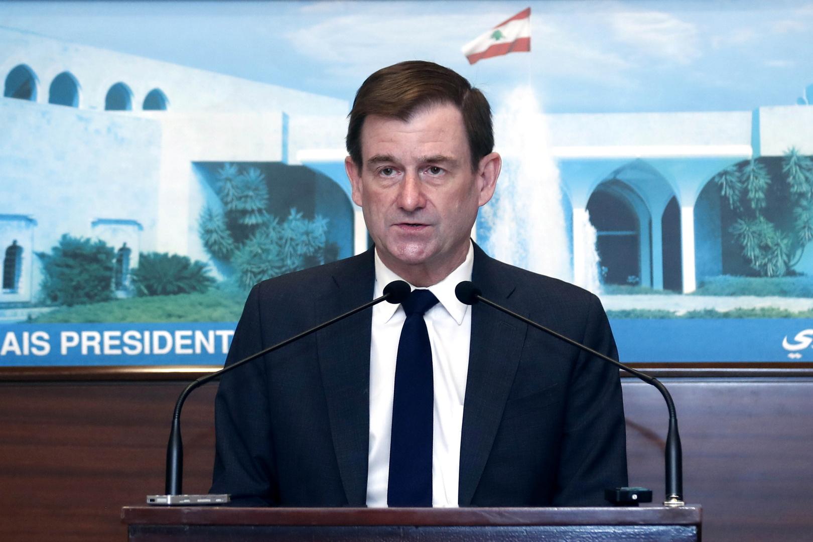 هيل: لبنان لن يحصل على خطة إنقاذ لكن الرغبة في الإصلاح قد تؤدي إلى مساعدة كبيرة