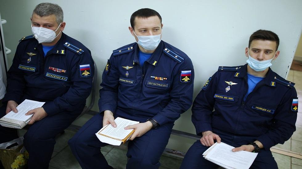 القوات المسلحة الروسية تشهد حملة تكرار التطعيم ضد فيروس كورونا
