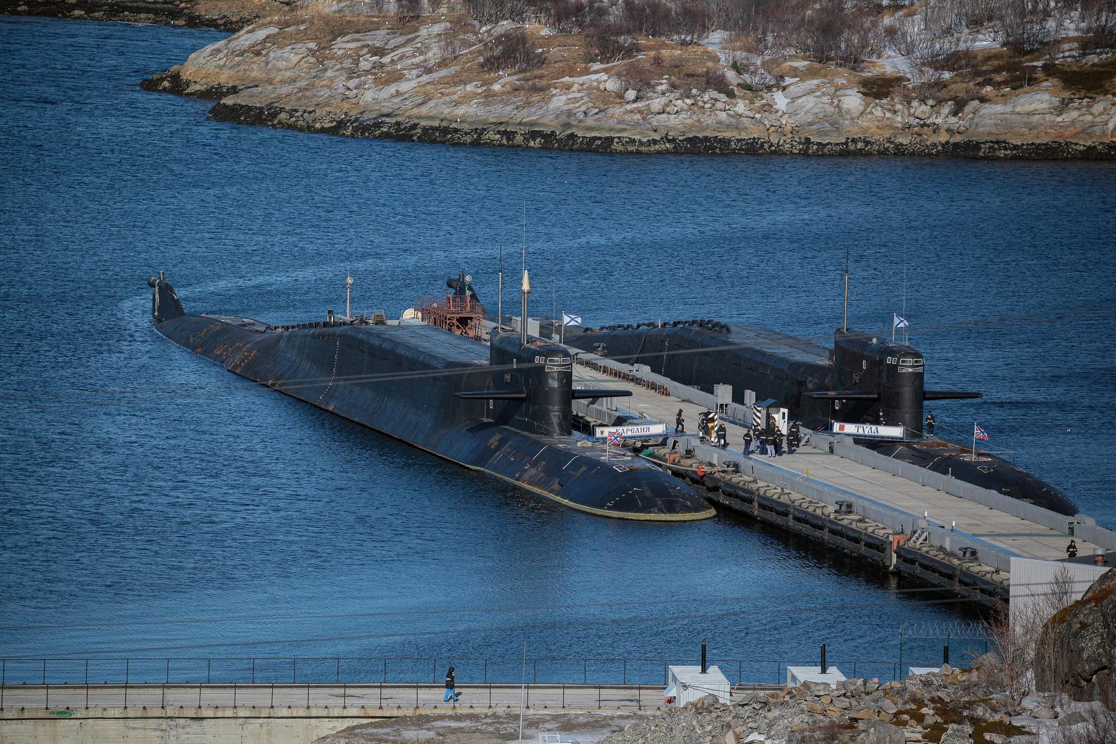 مناورات لغواصات روسية على عمق يزيد عن 500 متر