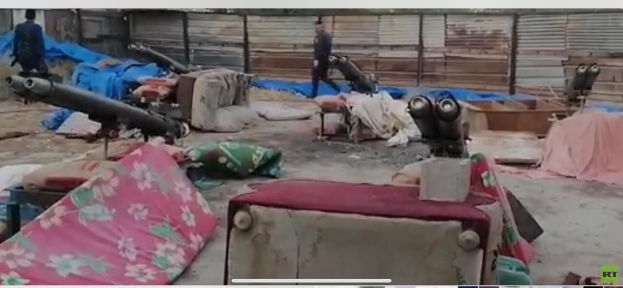 RT تنشر صور الصواريخ التي عثر عليها في حي سكني ببغداد