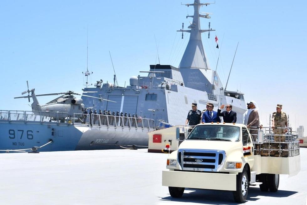 وفد قطري يشارك في حفل افتتاح قاعدة 3 يوليو البحرية المصرية