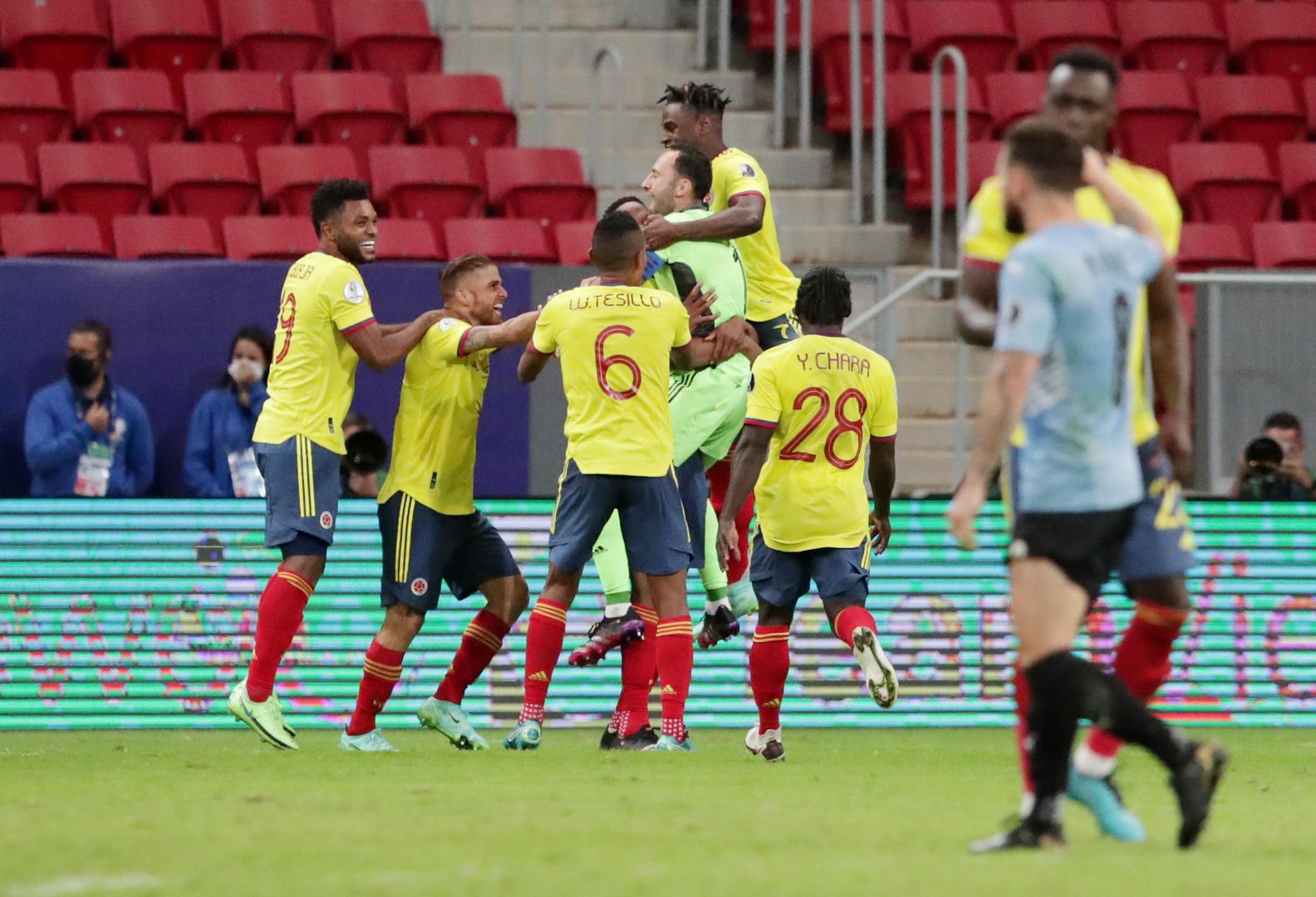 كولومبيا تبلغ قبل نهائي كوبا أمريكا بفوزها بركلات الترجيح على أوروغواي