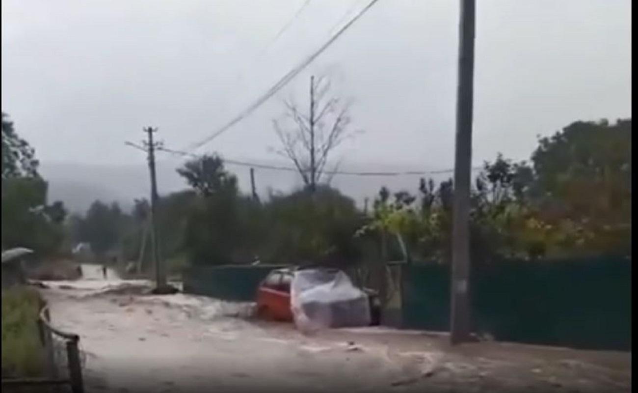فيضان نهر باغا في شبه جزيرة القرم