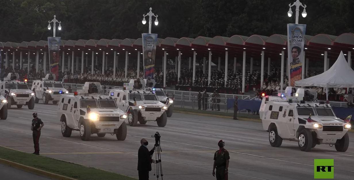 عرض عسكري في فنزويلا بمناسبة مرور 210 سنوات على استقلالها
