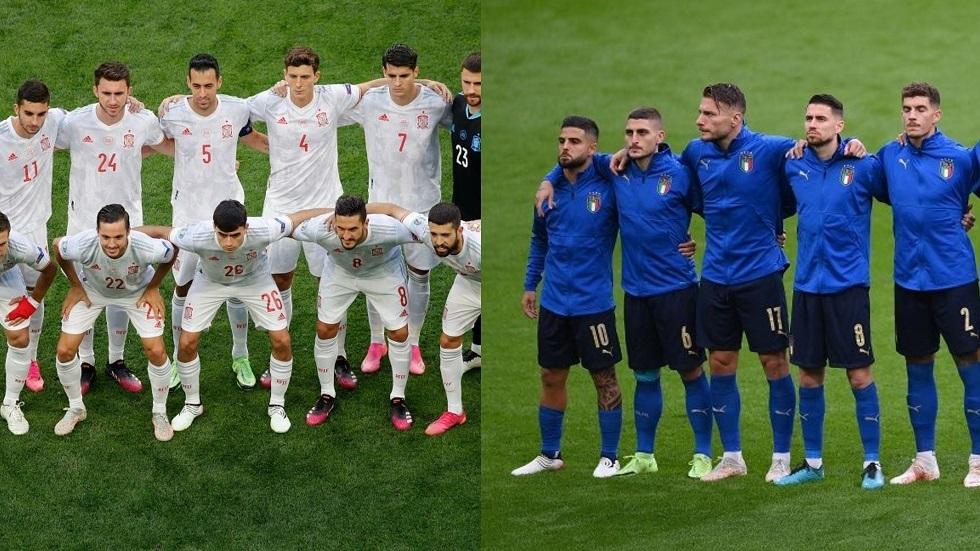 التشكيلة المتوقعة لمباراة إيطاليا وإسبانيا في نصف نهائي كأس أوروبا