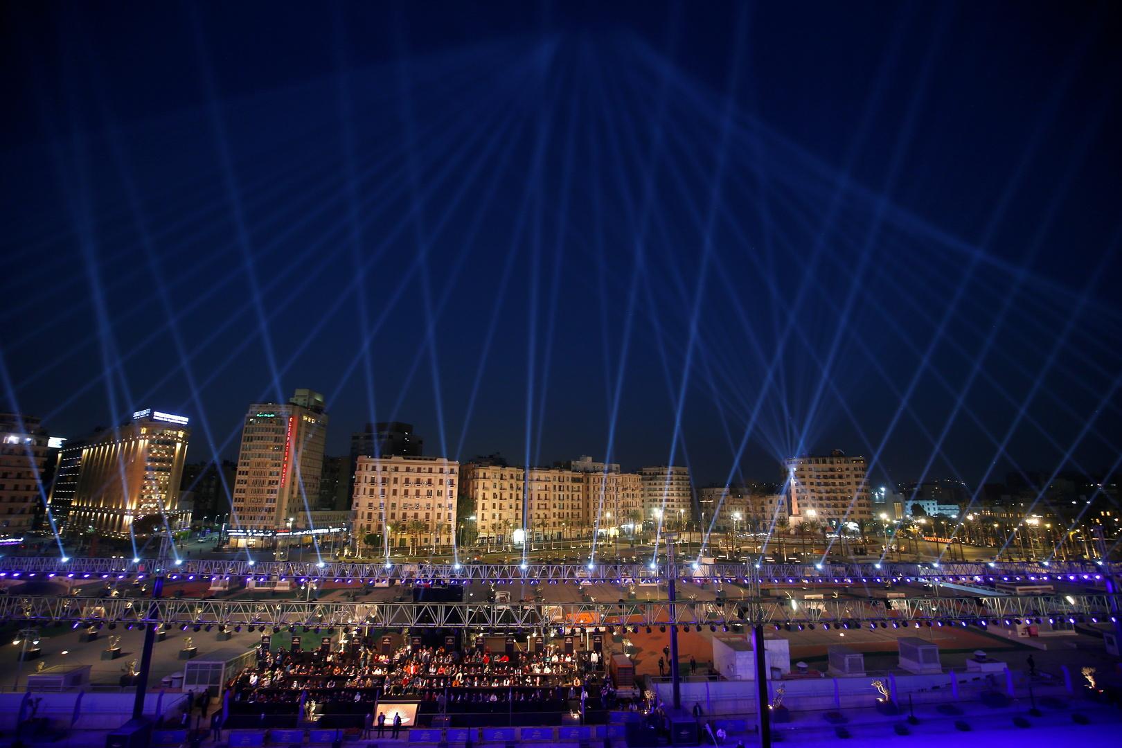 العاصمة المصرية القاهرة خلال احتفالات نقل المومياء