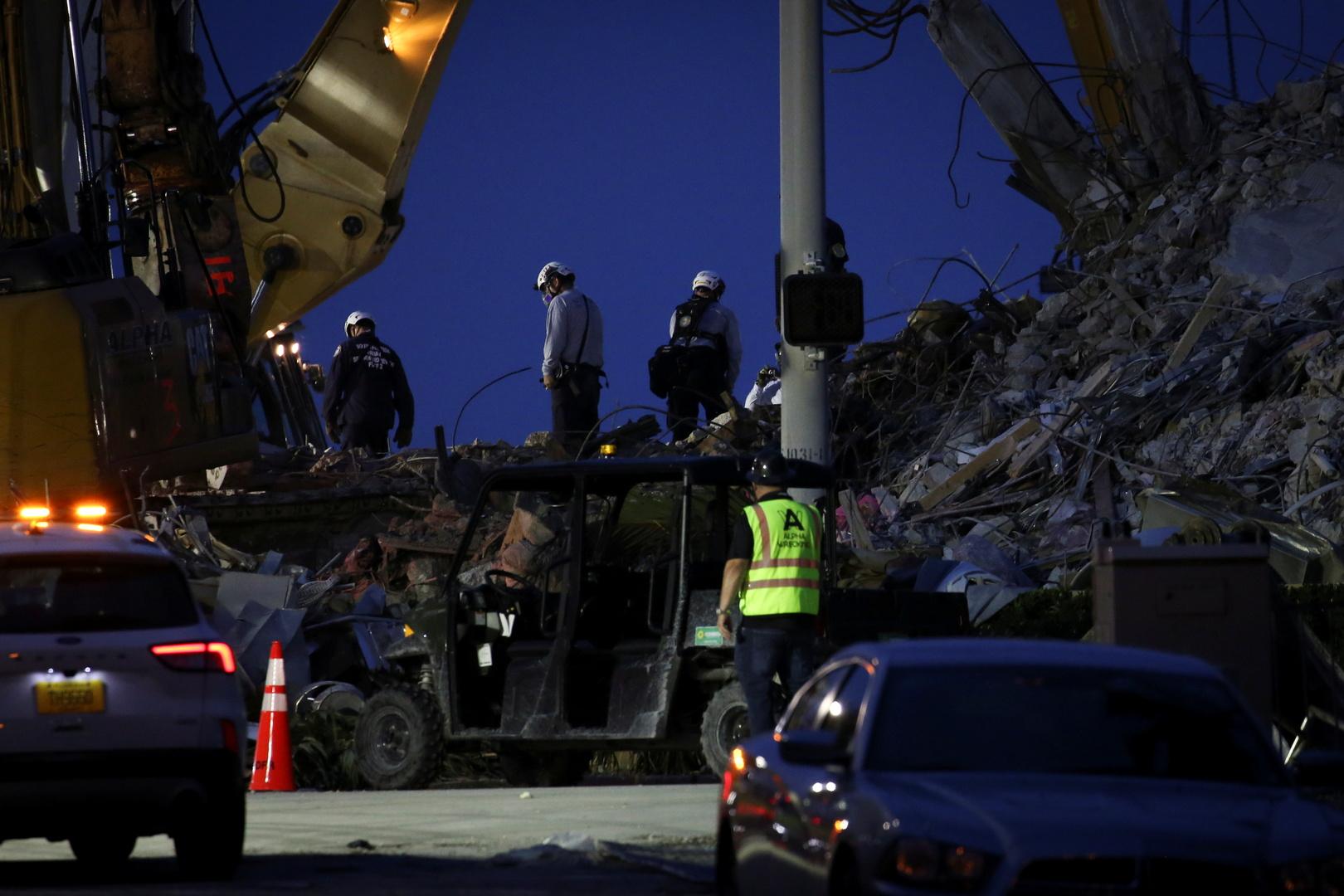ارتفاع حصيلة ضحايا انهيار المبنى في كاليفورنيا الأمريكية إلى 64 قتيلا