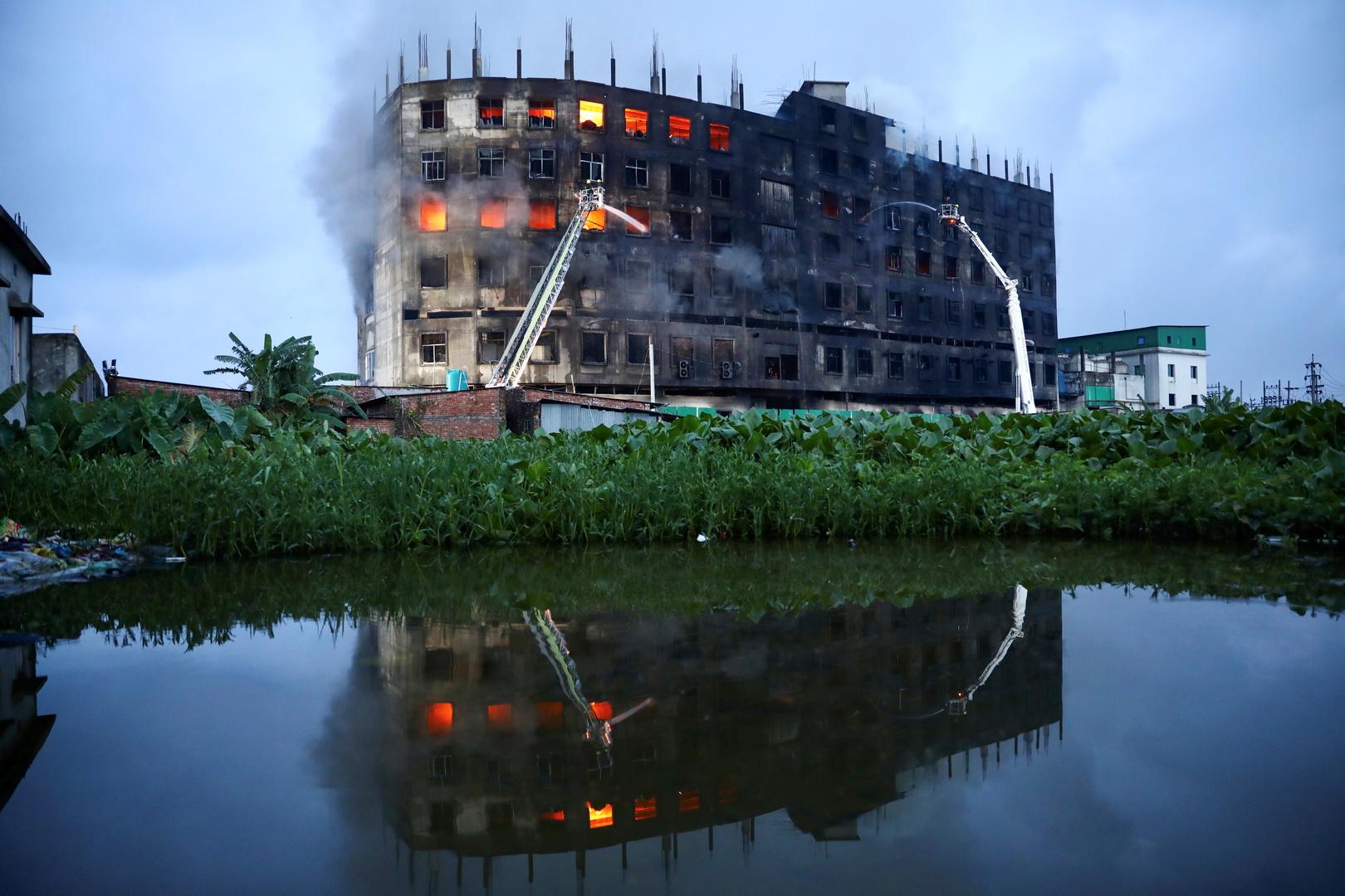 مقتل 52 وجرح العشرات في حريق بمصنع في بنغلاديش