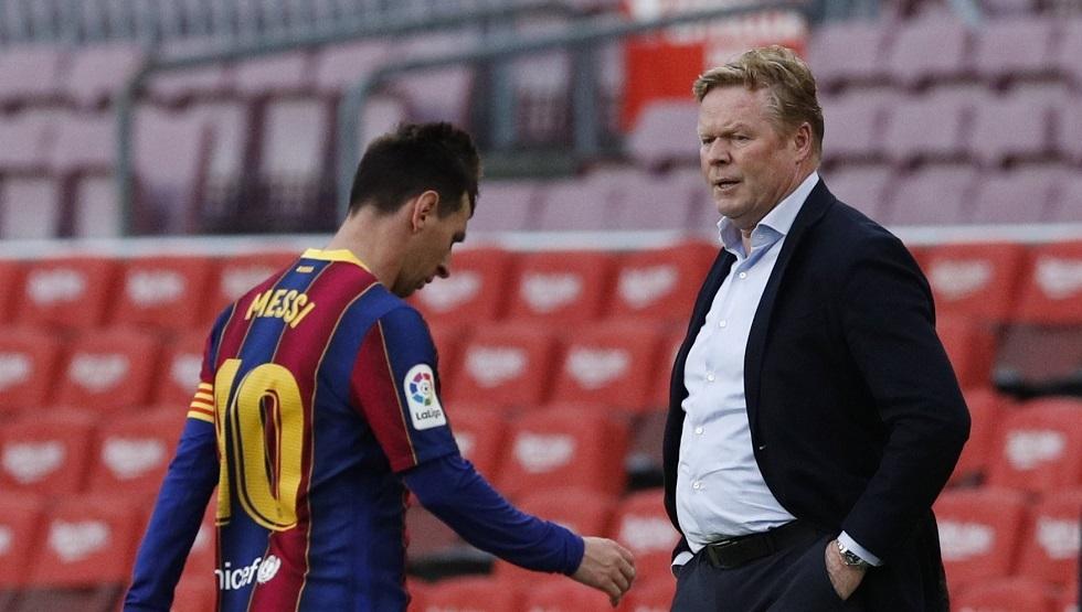 كومان يدق ناقوس الخطر بشأن إقامة ميسي في برشلونة