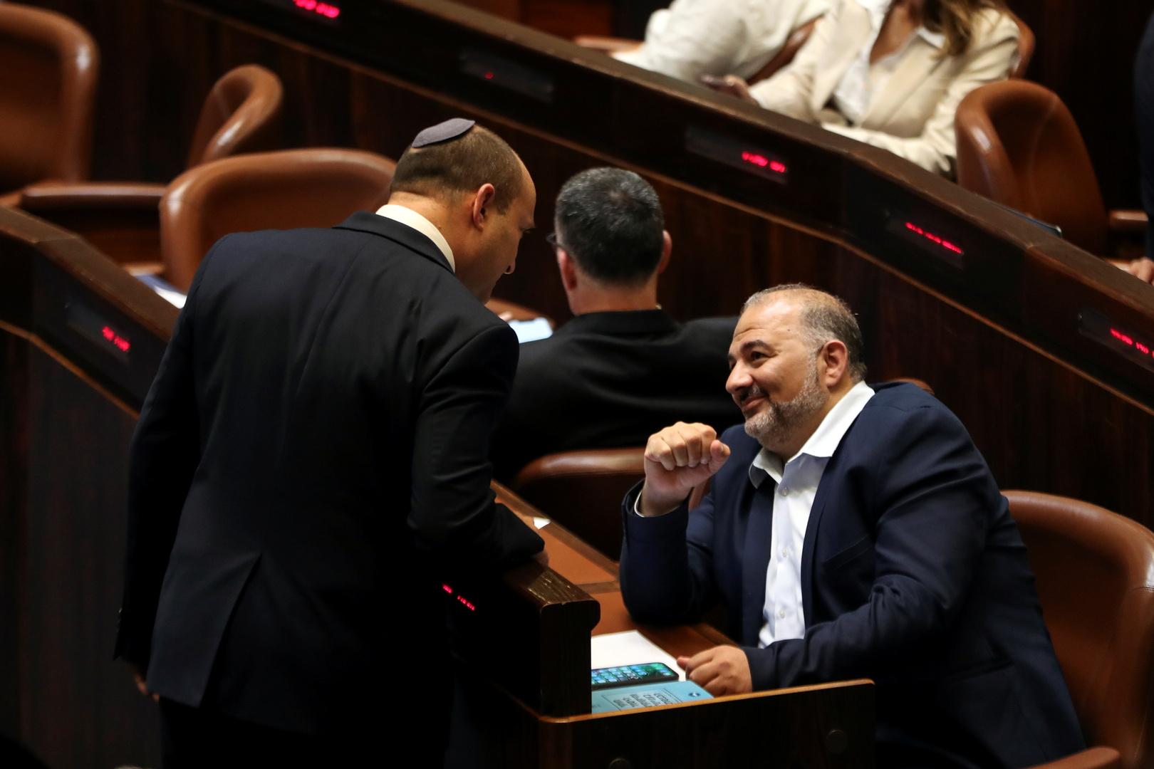 منصور عباس ونفتالي بينيت