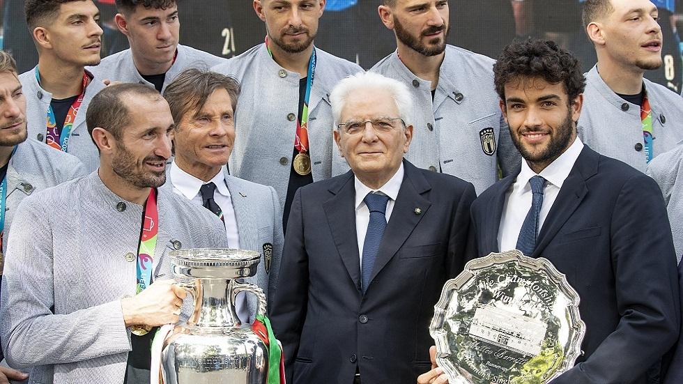 الرئيس الإيطالي يستقبل أبطال أمم أوروبا