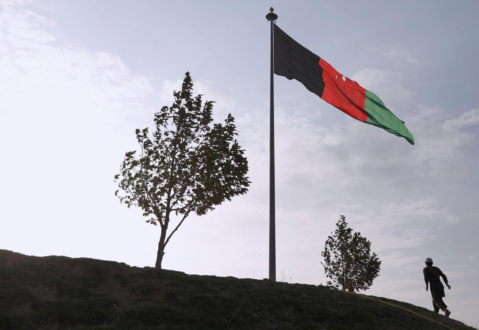 علم أفغانستان في كابول.
