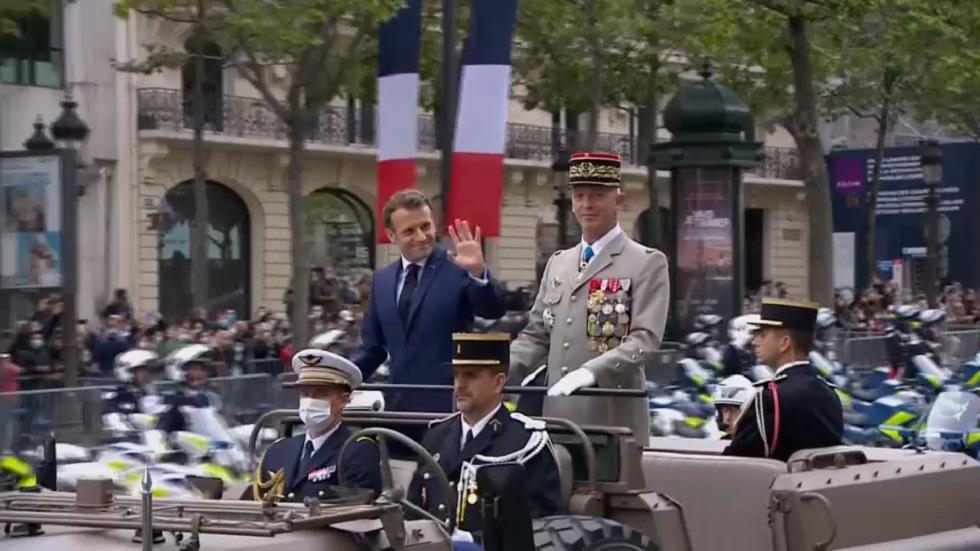 احتفال واسع وعرض عسكري في باريس بحضور الرئيس ماكرون في يوم الباستيل
