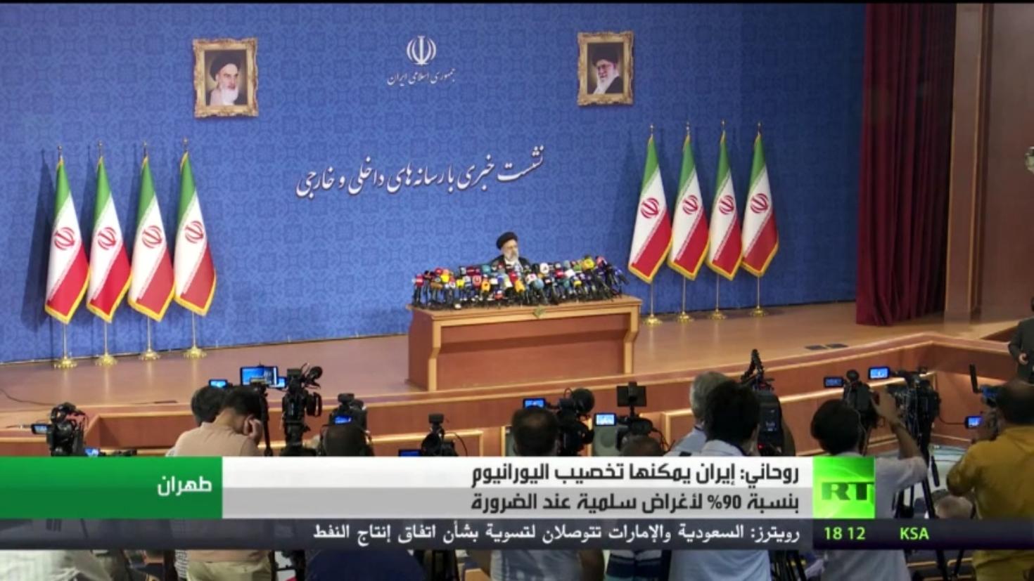 روحاني: إيران قادرة على تخصيب اليورانيوم 90%