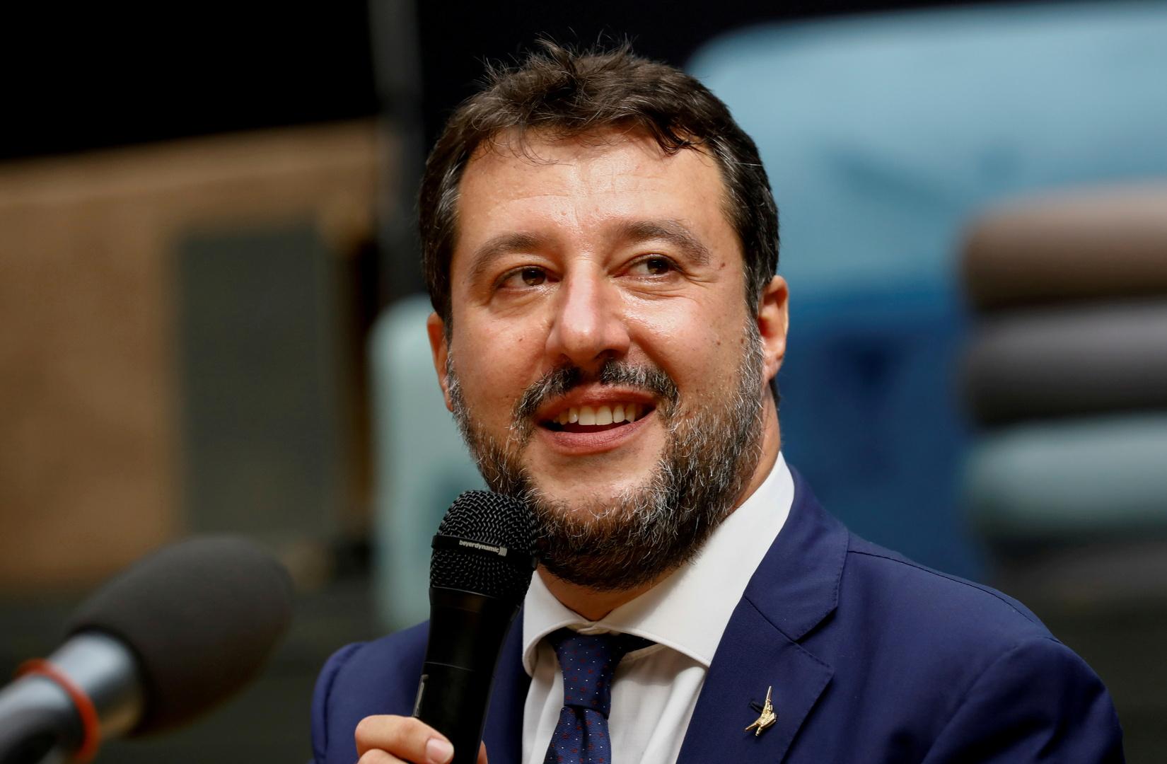 زعيم حزب الرابطة الإيطالي، ماتيو سالفيني