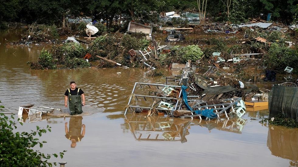 ارتفاع حصيلة ضحايا الفيضانات في ألمانيا إلى 58 قتيلا