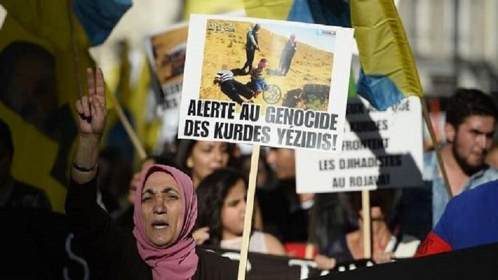 مظاهرات لفضح جرائم داعش بحق الإيزيديين - أرشيف