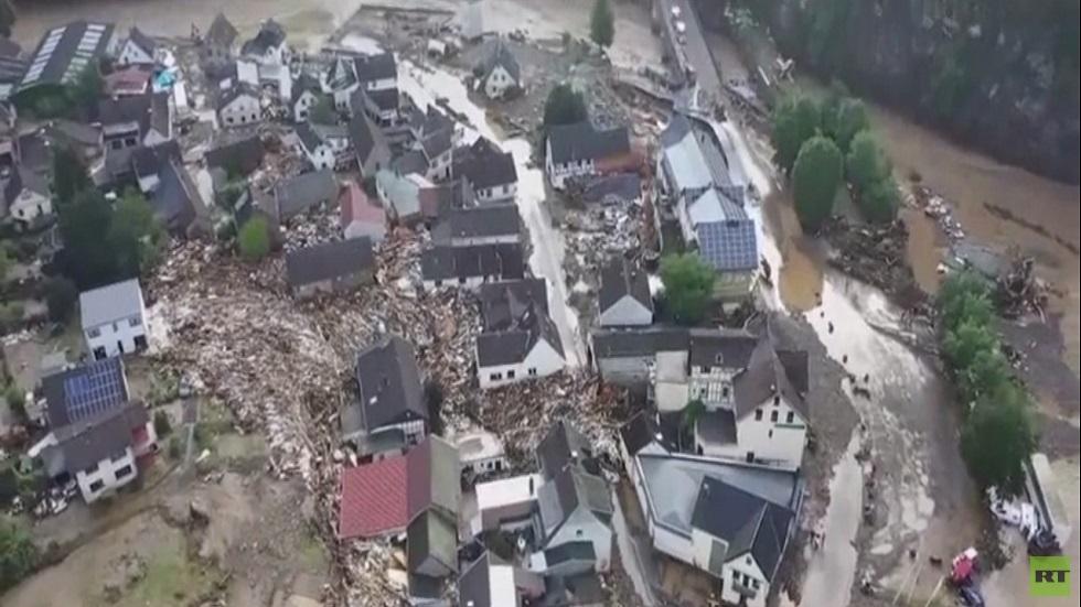 عشرات القتلى جراء الفيضانات غرب أوروبا