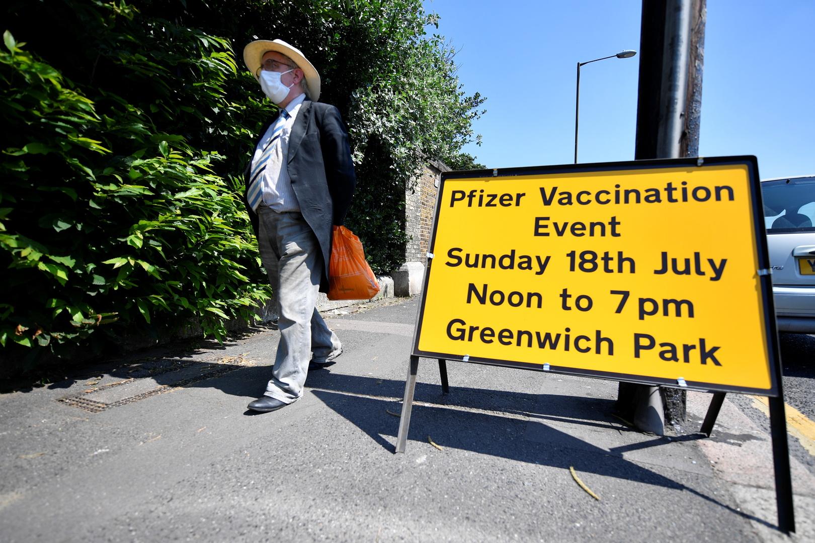 بريطانيا: 60% من مصابي كورونا في المستشفيات خضعوا للتطعيم