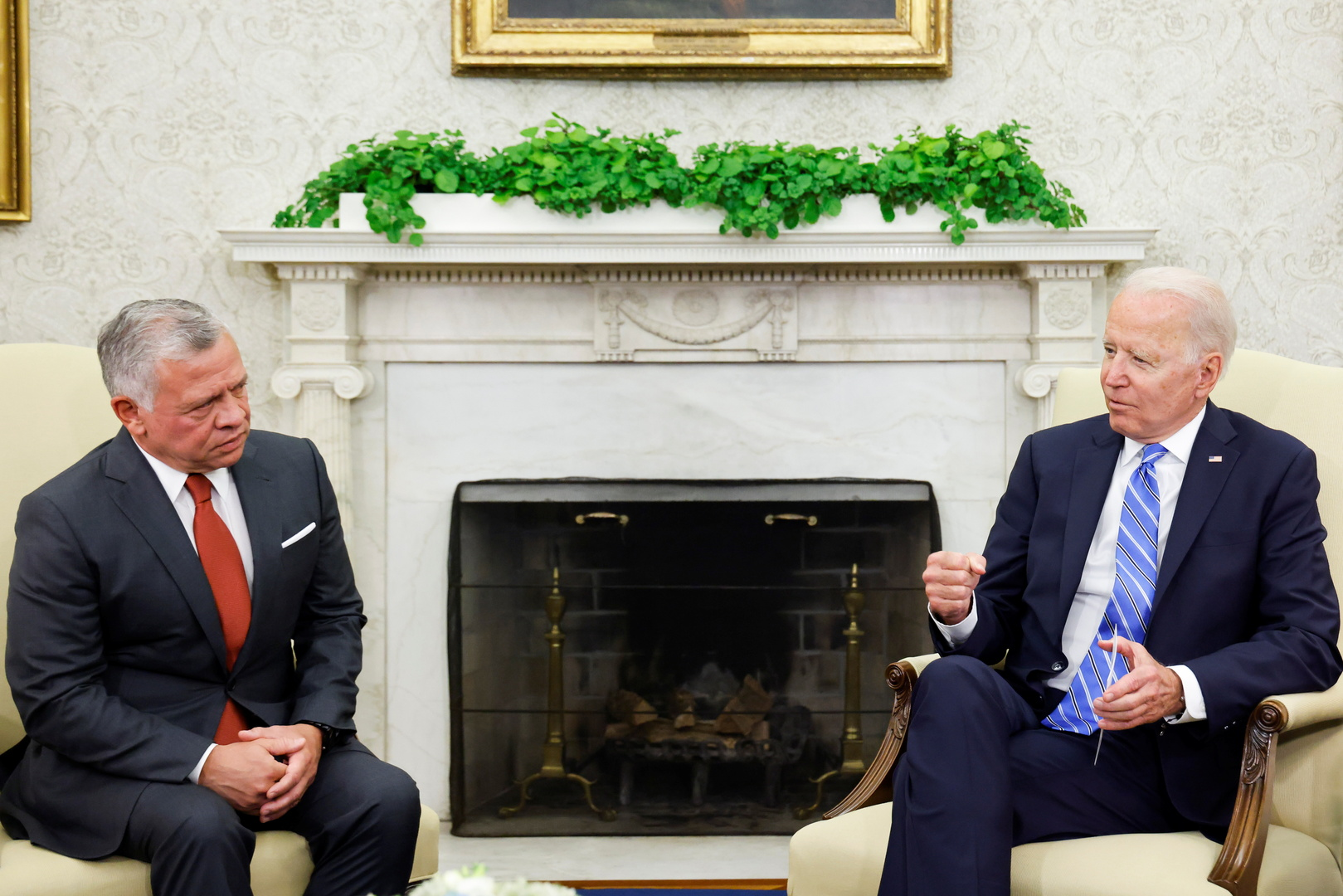 عبدالله الثاني يدعو من واشنطن لإطلاق مفاوضات بين الفلسطينيين والإسرائيليين