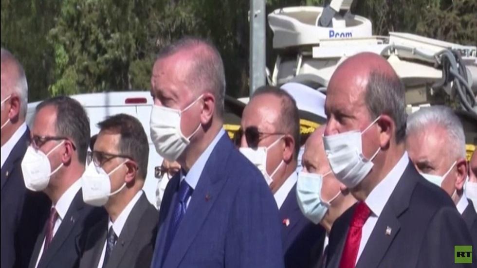 أردوغان: سندافع عن حقوق القبارصة الأتراك