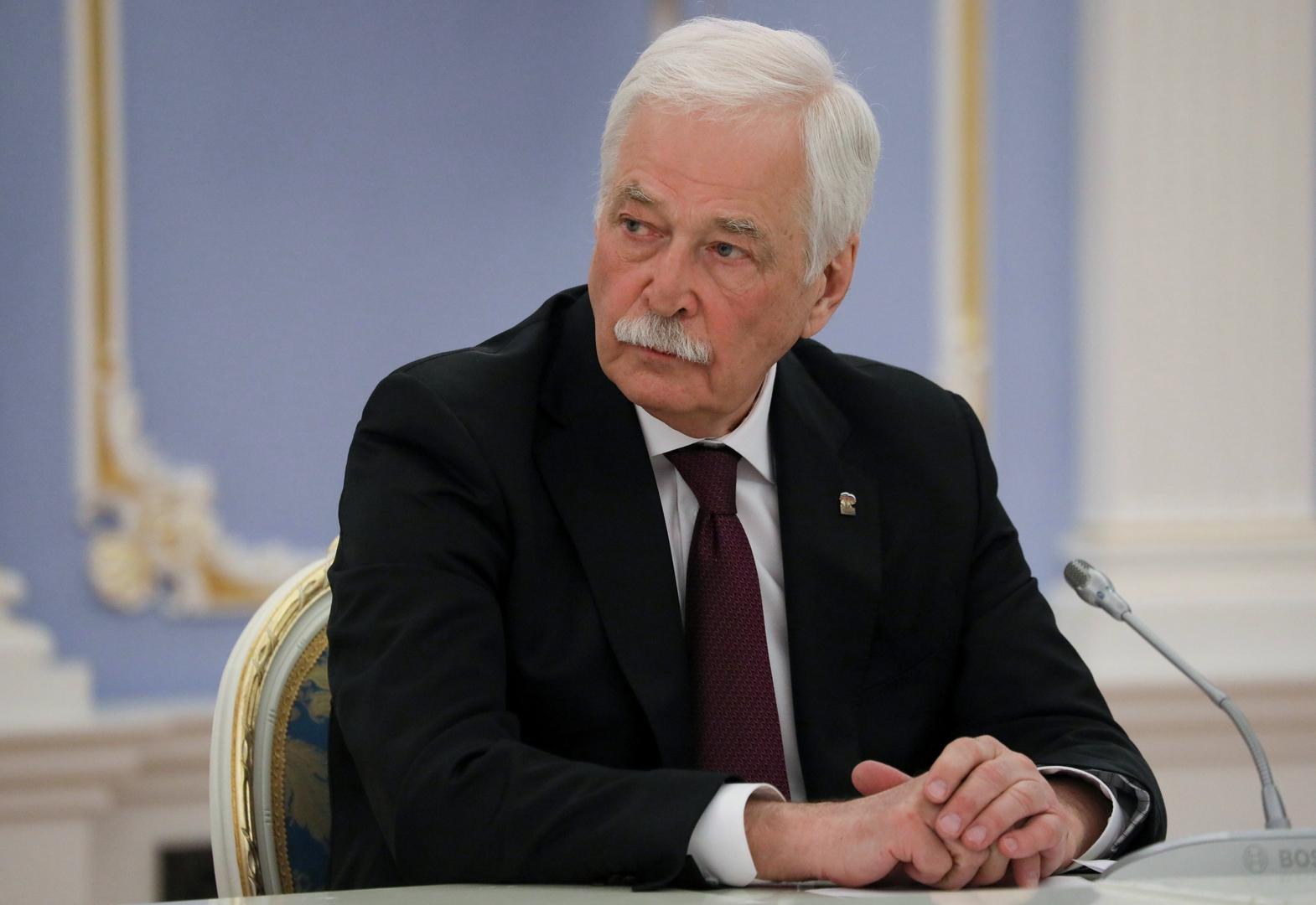 بوريس غريزلوف، المفوض الروسي في مجموعة الاتصال الخاصة بتسوية النزاع في أوكرانيا