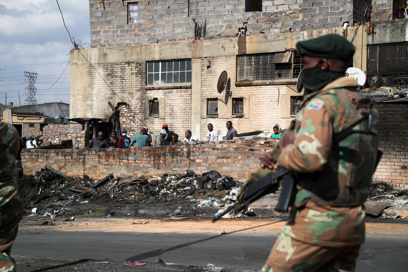 حصيلة ضحايا اضطرابات جنوب إفريقيا تصل إلى 276 شخصا