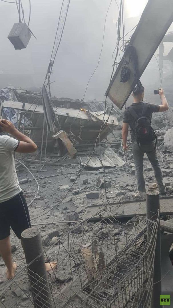 سقوط ضحايا بانفجار ضخم وسط مدينة غزة (صور)