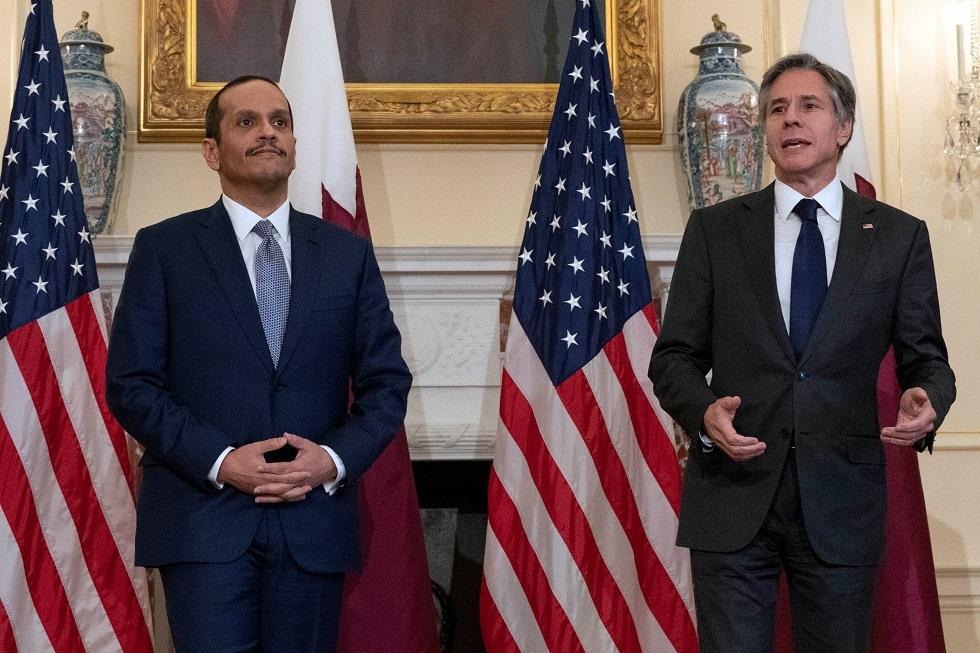 بلينكن: قطر شريك حيوي للولايات المتحدة في العديد من المجالات
