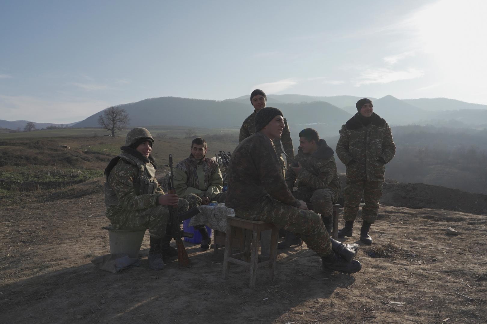 عسكريون أرمن في إقليم قره باغ.