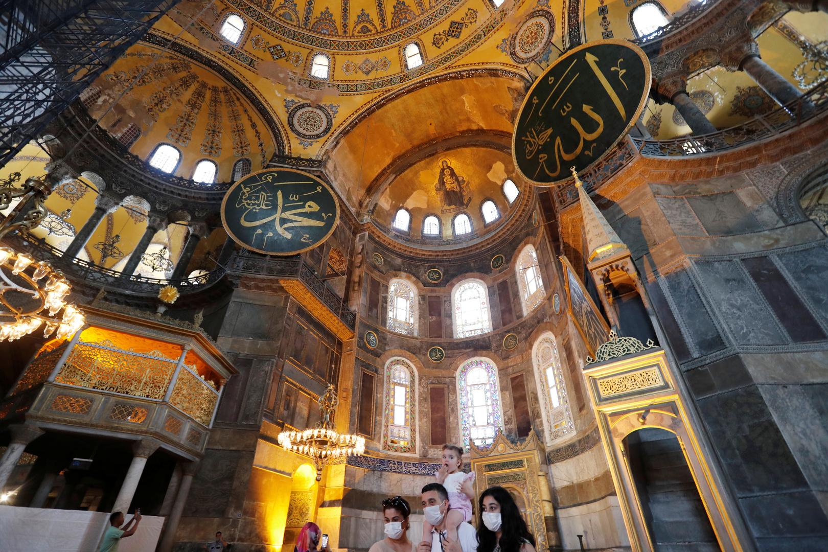 أردوغان في الذكرى الأولى لإعادة فتح مسجد