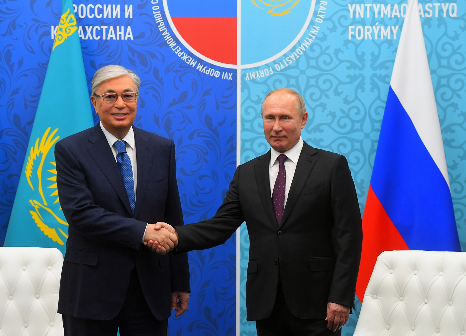 الكرملين: بوتين يبحث مع رئيس كازاخستان العلاقات الثنائية وقضايا إقليمية