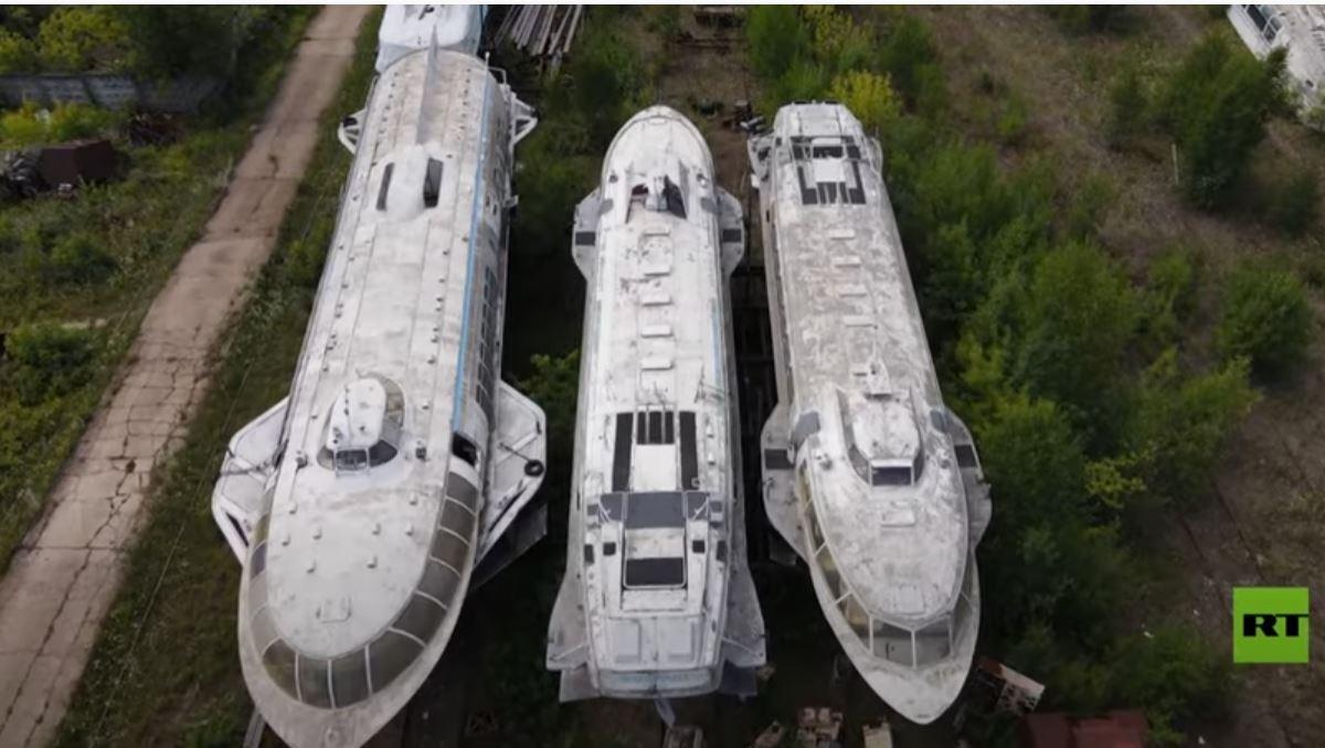 شاهد.. مقبرة السفن المهجورة في مدينة روسية