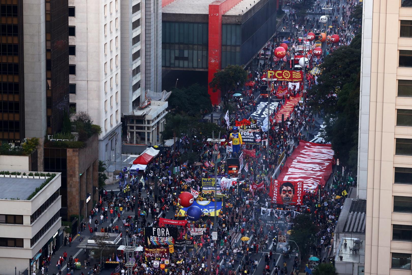 مظاهرات في شوارع مدن البرازيل تطالب بمساءلة بولسونارو