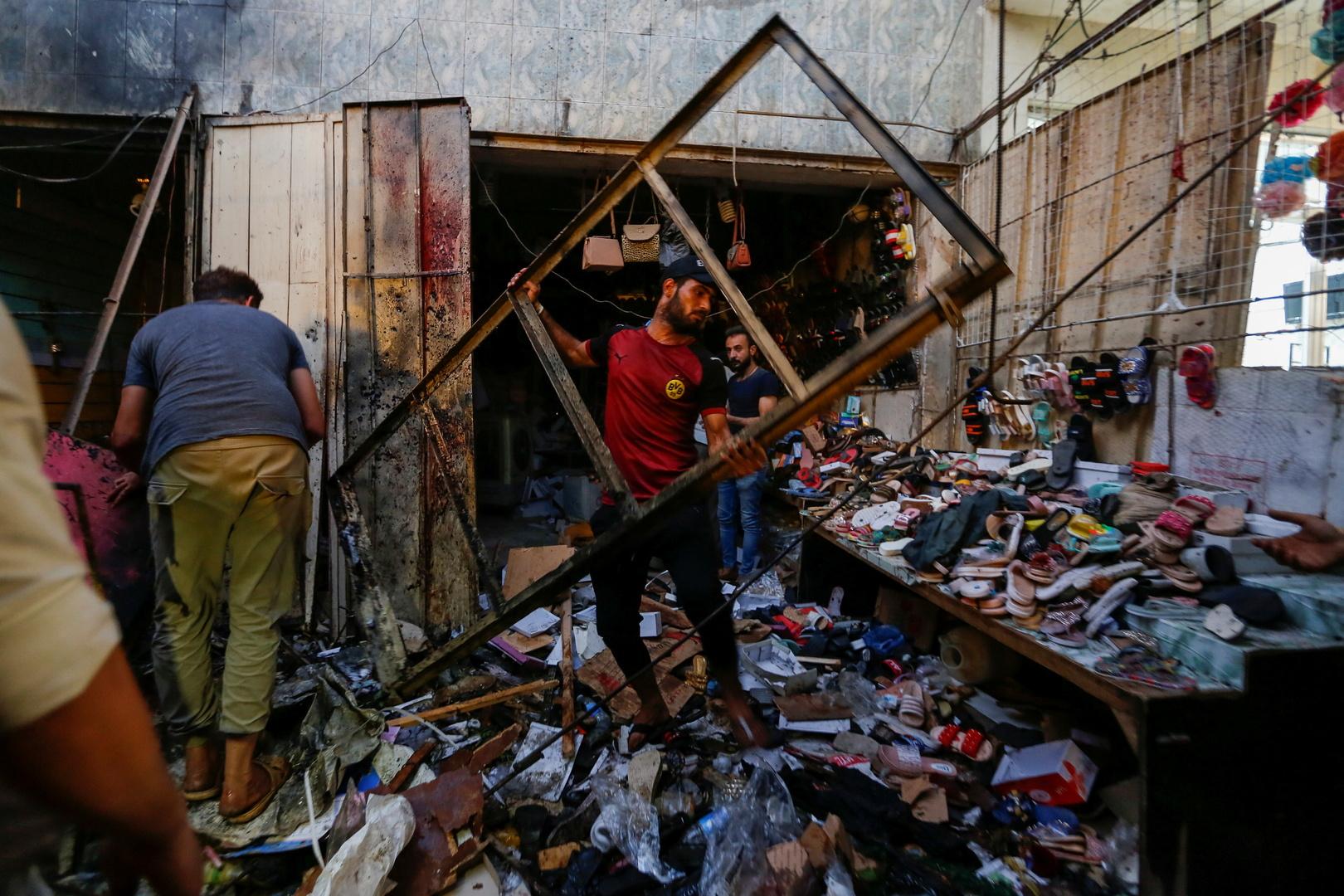 انفجار مدينة الصدر في العاصمة العراقية بغداد