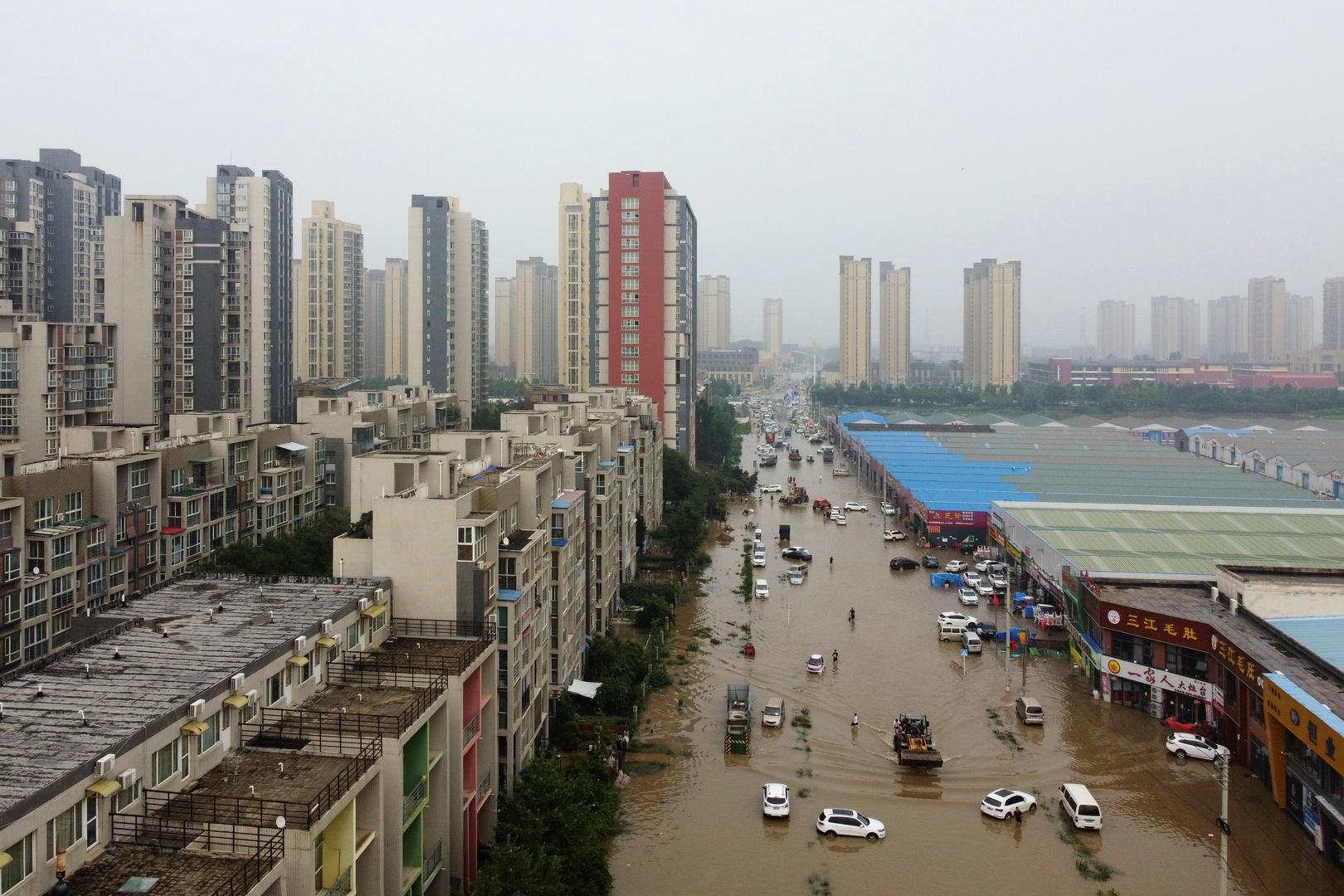 ارتفاع حصيلة ضحايا الفيضانات في مقاطعة خنان الصينية